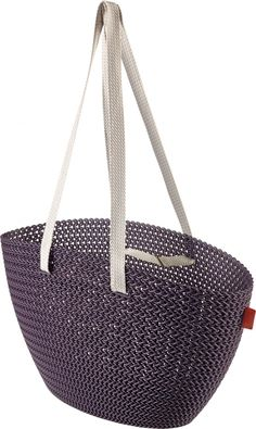 Boodschappentas Knit Emily - twilight purple - Curver My Style Bags, Twilight, Origami, Knitting Patterns, Product Launch, Tote Bag, Purses, Shopping, Collection