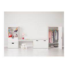 STUVA Säilytyskaluste + penkki - valkoinen/valkoinen - IKEA