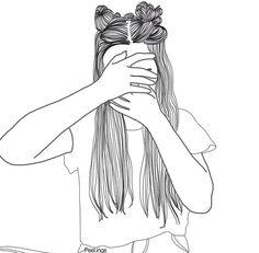 girl drawing black and white Tumblr Girl Drawing, Tumblr Drawings, Tumblr Art, Girl Drawing Sketches, Girly Drawings, Girl Sketch, Tumblr Girls, Cool Drawings, Girl Outlines