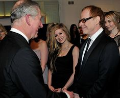 Danny Elfman, Prince Charles, and Avril Lavigne at an event for Alice in Wonderland (2010)