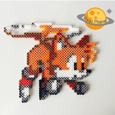 Tails perler beads by pixel_planet_