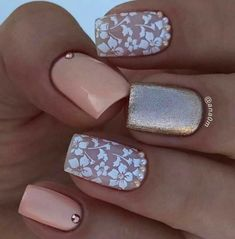 Floral play an important role in nail art design. Many people like the floral nail art design. In this article, we have collected 65 stylish floral nail art designs for yo Beach Nail Designs, Cute Summer Nail Designs, Cute Summer Nails, Elegant Nail Designs, Flower Nail Designs, Elegant Nails, Spring Nails, Nice Nail Designs, Nail Summer