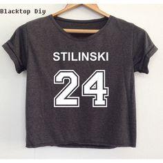 Crop Shirt Teen Wolf Stiles Stilinski Lacrosse 24 Shirt Stilinski 24... ($13) ❤ liked on Polyvore featuring tops, crop tops, maroon, women's clothing, crop top, crop shirts, shirt crop top, shirts & tops and round top