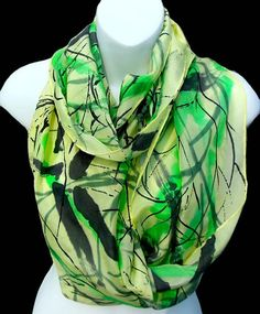 Asian Infusion/ Bamboo/ SILK SCARF for by SilkScarvesJoanReese, $90.00