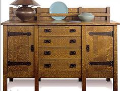 A reproduction of an original Gustav Stickley sideboard.  I could live with that, lol.