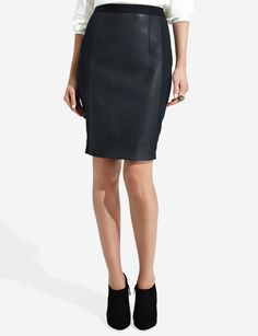Faux Leather & Knit Pencil Skirt | Women's Skirts | THE LIMITED
