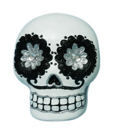 Maker's Halloween Day of the Dead Glitter Skull Flower Eye White