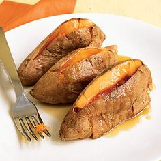 Roasted Sweet Potatoes With Maple Butter | MyRecipes.com #MyPlate #vegetable