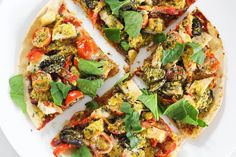 Healthy Tortilla Pizza (gluten-free, dairy-free) | Liezl Jayne