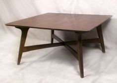 Best Corner Tables Images On Pinterest Midcentury Modern - Mid century square dining table