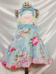 Sunshine Blue Ellie Halter Dress