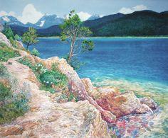 Lake McDonald in Summer glacier-national-park; mary-beth-percival
