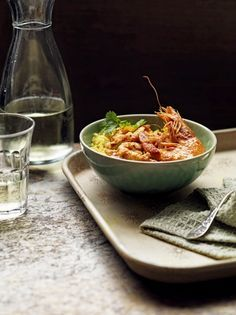 Spicy prawn curry with quick pilau rice Spicy Curry Recipe, Seafood Curry Recipe, Curry Recipes, Seafood Recipes, Indian Food Recipes, Cooking Recipes, Healthy Recipes, Jamie's Recipes, Cooking Stuff