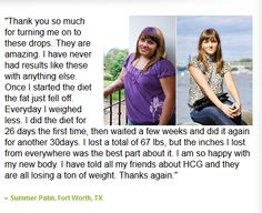 Find how HCG Diet Drops helped in achieving there weight loss goals.