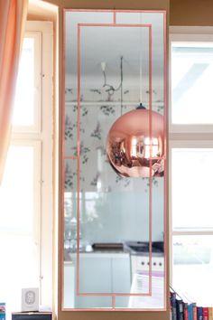 DIY tükörkeret / DIY mirror frame with copper foil tape