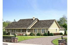 ranch style home Ranch Style House Plan - Best House Plans, Country House Plans, Dream House Plans, House Floor Plans, Country Houses, Simple Ranch House Plans, Ranch House Additions, Basement House Plans, Farmhouse Plans