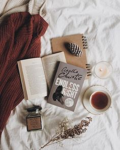 Endless Night by Agatha Christie Autumn Aesthetic, Book Aesthetic, Flat Lay Photography, Book Photography, Fashion Photography, Book Flatlay, Endless Night, Books For Self Improvement, Coffee And Books