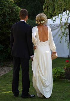 Elegant bohemian style wedding dress