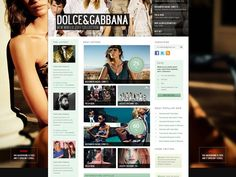 Dead Stocker Fashion Web Design Free PSD Template