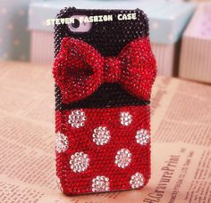 Cute circle dot bow iphone 5s case iphone 5c case by mystuded, $29.00