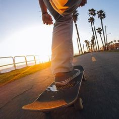 Photo of the Day! Our boy @thomaskovacik earned his #GoProAward by trying out a new perspective on a #sunset cruise in #HuntingtonBeach. He attached his #HEROSession to his shoe. Nice work dude! Share your favorite content with us via link in our bio! #GoPro #skate #Beach #summer #amazing #followback #photo