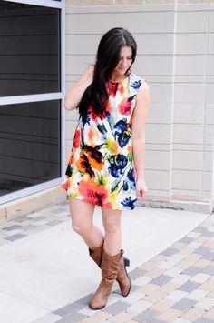 Floral PATSY Tunic-Dress I Kelly's Closet Boutique  #raidkellyscloset