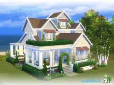 Lovely two story house for your sim or little sim family and pets Found in TSR Category 'Sims 4 Residential Lots'