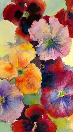 This is a page of watercolour studies of pansies, not intended to be 'a painting', I did a while ago that I came across. It's a grey rainy d...