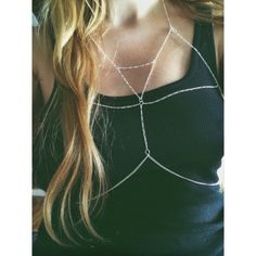 aad1179cfe3bc body chain bralette by mbecrafts on Etsy Silver Bralette