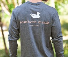 Our most popular shirt, featuring the Southern Marsh mallard silhouette logo on the back, and our Authenticlogo on the front pocket. Available in all kinds...