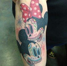 minnie mouse sugar skull soooo want this on my left thigh!!! | Tattoos ...