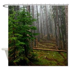 Pine Forests 2 Shower Curtain on CafePress.com