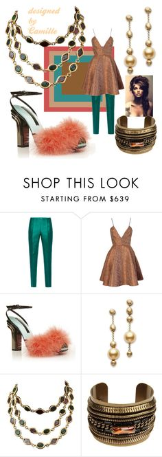 """""""OVER THE TOP"""" by greenacres1124 on Polyvore featuring Antonio Berardi, Joana Almagro, Marco de Vincenzo, Mikimoto, Chanel, DANNIJO, women's clothing, women, female and woman"""