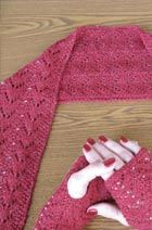 Download Beaded Lace Scarf & fingerless gloves