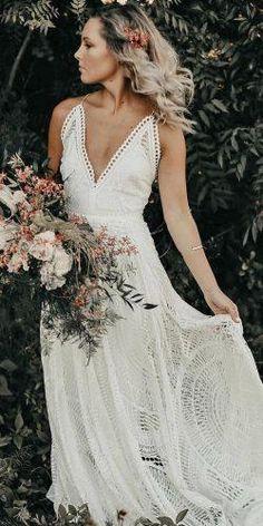Absolutely Gorgeous Destination Wedding Dresses ★  destination wedding dresses beach with spaghett straps boho loversx society