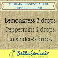 Image result for migraine oil blend doterra diffusing