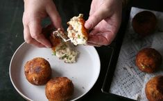 Mozzarella and prosciutto stuffed risotto balls coated in breadcrumbs and fried until golden. These savory, cheesy Rice Balls from Chef Lidia Bastinaich are the perfect appetizer or side to accompany your favorite dishes. Lidia's Recipes, Food Network Recipes, Appetizer Recipes, Cooking Recipes, Recipies, Hot Appetizers, Italian Dishes, Italian Recipes, Italian Foods