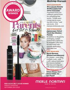 """Wicked Lash Mascara was voted Best Mascara by Parents Magazine saying, """"No clumps -- even after multiple coats -- and a soft, natural look were the reasons behind this mascara's big win. Best Concealer, Best Mascara, Beauty Tips, Beauty Hacks, Makeup Application, Award Winner, Natural Looks, Dark Circles, Norman"""