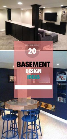 Basement Decor ! Tips For Styling Your Dream Basement #basementideas #basementdesign Basement Bar Designs, Basement Decorating, Basement Remodeling, Basement Ideas, Remodeling Ideas, Home Theater Room Design, Home Theater Rooms, Bar Ideas, Decor Ideas