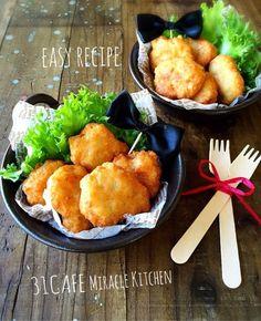 ♡フライパンde簡単*節約♡むね肉とお豆腐のヘルシー焼きナゲット♡【お弁当*かさまし】 ©Mizuki