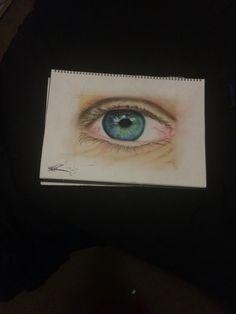 Drawing sketch of eye( pastel art )