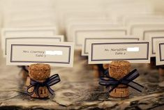 DIY Champagne cork name cards!