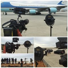 The #Piatto and #iLED312 are ready to greet the commander in chief as he gets off from #AirForceOne #president #interview #tv #film #filmlife #Obama