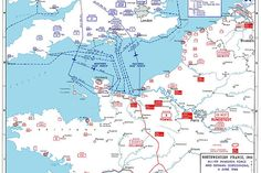 Allied invasion plans and German positions in Normandy reduced to one piece of…