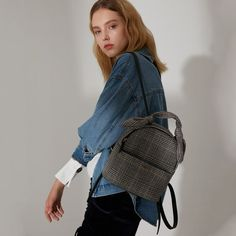 Women Backpack Fashion Plaid Travel Bags College Wind Small Backpack Englant Backpack Female M. Small Backpack, Women's Backpack, Cheap Backpacks, Boho Outfits, Luggage Bags, Evening Bags, Travel Bags, Fashion Backpack, 2017 Summer