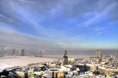 A city under snow by Bas Wallet  Riga, Latvia