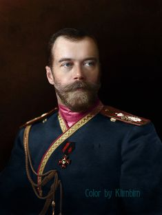 From B & W to Colour: A Russian artist gives new life to photos of Nicholas Romanov and his family. Nicholas II of Russia in the uniform of the Life-Guards The Imperial Family's Rifle Regiment, 1912 Vintage Photographs, Vintage Photos, Czar Nicolau Ii, Mode Russe, Tatiana Romanov, Exposition Photo, Maria Feodorovna, House Of Romanov, Colorized Photos