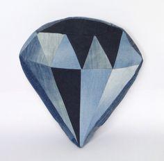 Kussen diamant jeans