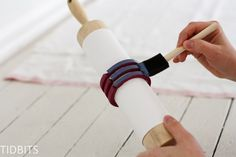 This is a brilliant way to use a rolling pin! Make this grainsack stripe stamp to use on textiles, paper, wood and more. No more taping down lines!