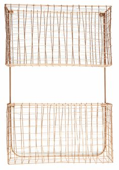 Holly's House - Two Tier Copper Wall Rack
